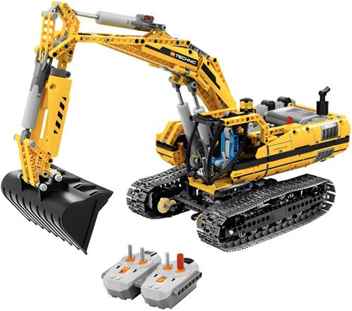 Radiostyrd LEGO grävmaskin