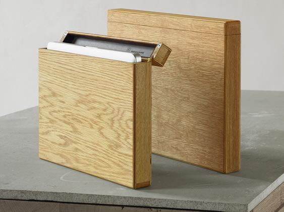 Läderinklädda träfodral till din MacBook